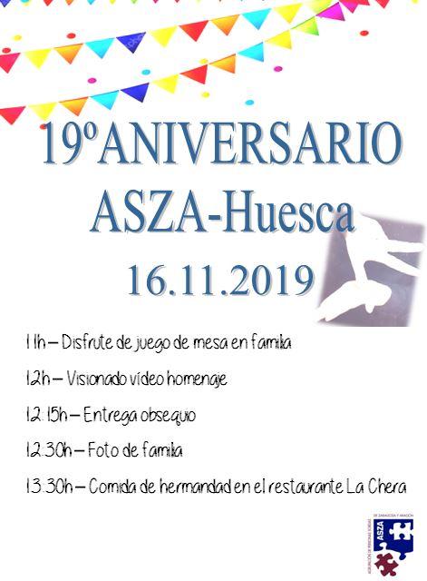 Programa Aniversario ASZA Huesca